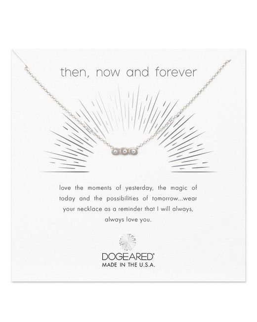 Dogeared - Metallic Then, Now & Forever Necklace - Lyst