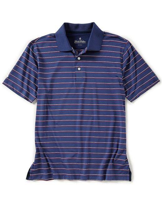 Brooks Brothers - Blue Multi-stripe Short-sleeve Polo Shirt for Men - Lyst