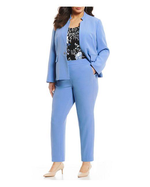 85ccfc208d8 ... Kasper - Blue Plus Size Crepe Blazer Jacket - Lyst ...