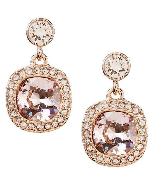 Givenchy - Metallic Cushion-cut Drop Earrings - Lyst