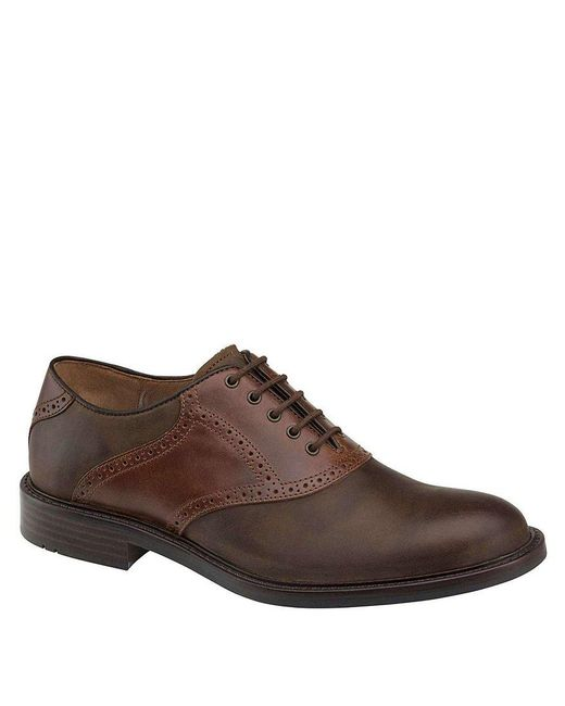 Johnston & Murphy | Brown Tabor Saddle Oxfords for Men | Lyst