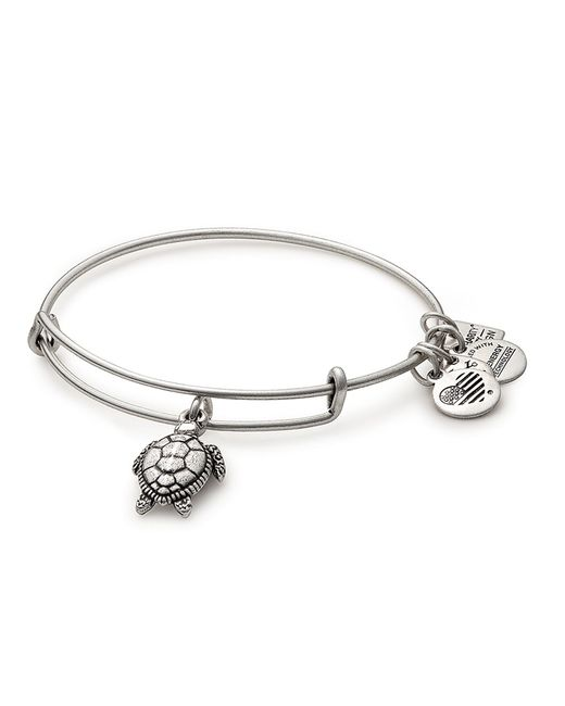 ALEX AND ANI - Metallic Sea Turtle Charm Bangle Bracelet - Lyst