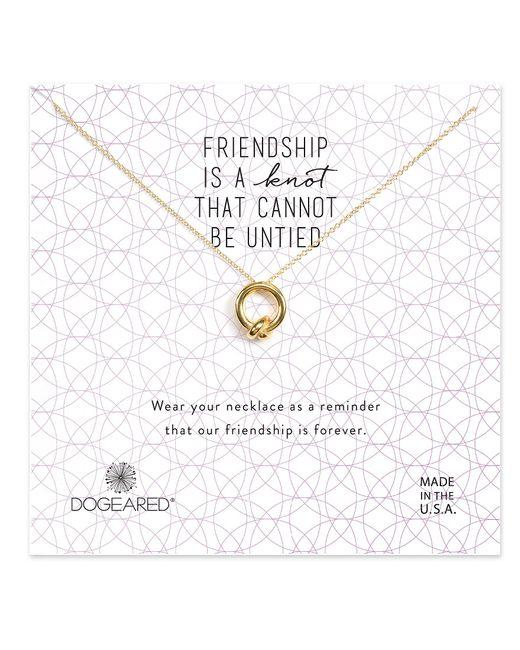 Dogeared - Metallic Friendship Knot Necklace - Lyst