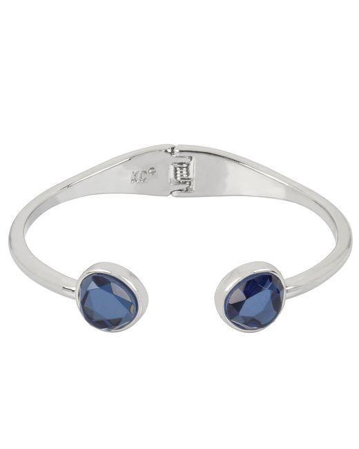 Kenneth Cole - Blue Stone Hinged Bangle Bracelet - Lyst