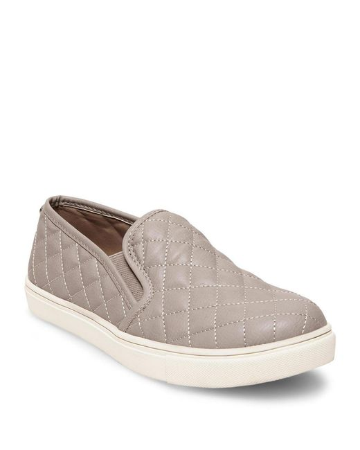 Steve Madden - Gray Ecentrcq Quilted Slip On Sneakers - Lyst