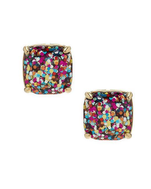 Kate Spade - Metallic Glitter Stud Earrings - Lyst
