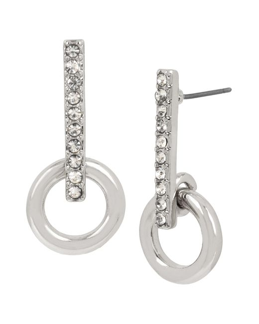 Kenneth Cole - Metallic Crystal Stick Earrings - Lyst