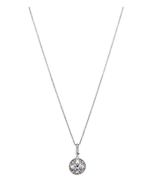 Nadri - Metallic Clear Cubic Zirconia Pendant Necklace - Lyst