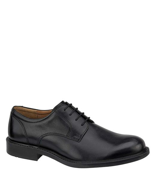Johnston & Murphy - Black Tabor Plain-toe Dress Shoes for Men - Lyst