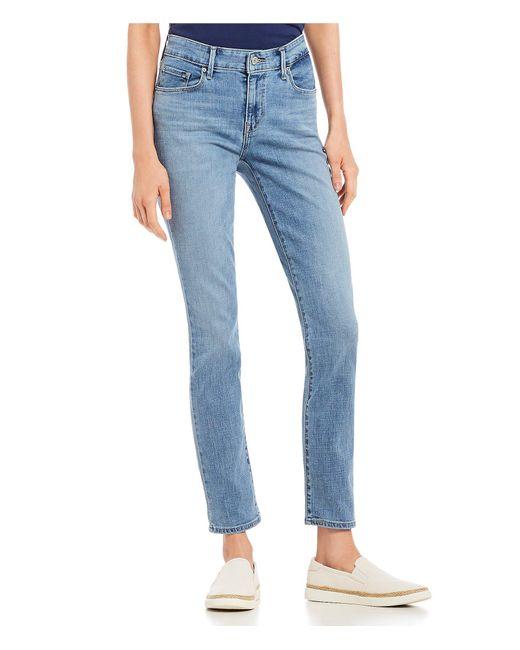 Levi's - Blue Classic Mid Rise Skinny Jeans - Lyst