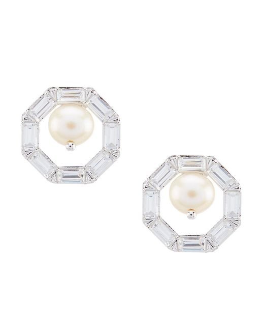 Nadri - Metallic Octagon Stud Earrings - Lyst