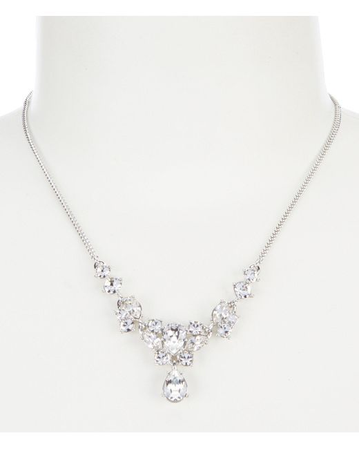 Givenchy - Metallic Crystal Y Necklace - Lyst
