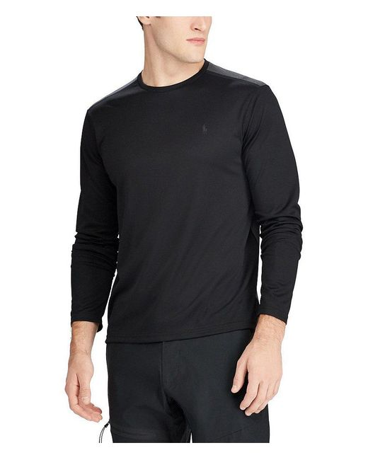 Polo Ralph Lauren | Multicolor Active-fit Performance Long-sleeve Tee for Men | Lyst