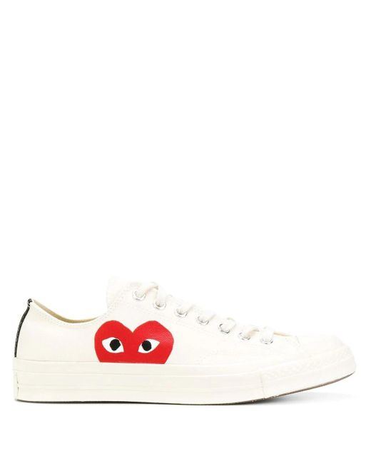 COMME DES GARÇONS PLAY White Play Converse Low-top Sneakers for men