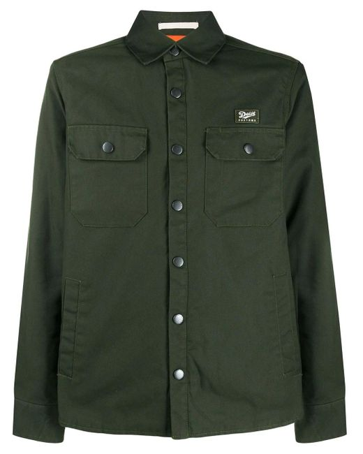 Deus Ex Machina Green Logo Patch Shirt Jacket for men