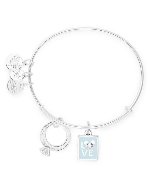 ALEX AND ANI Metallic Mickey Mouse ''love'' And Ring Bangle By Official Shopdisney