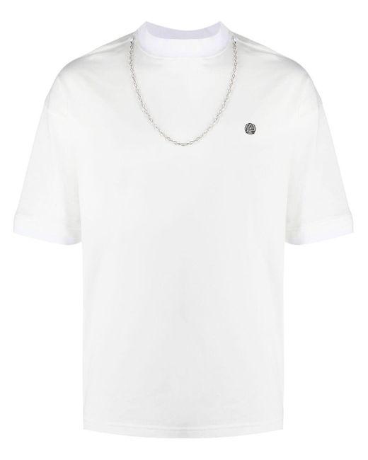 T-shirt con logo uomo white black di Ambush da Uomo