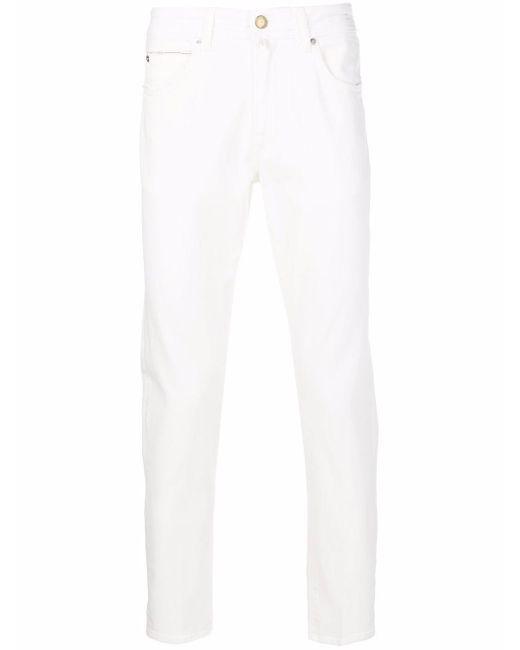 Jeans a gamba dritta uomo panna di Briglia 1949 in White da Uomo