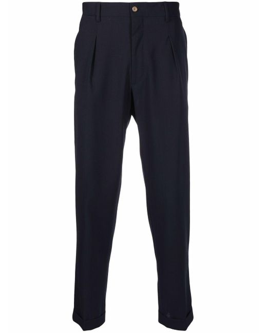 Pantaloni a gamba dritta uomo blu di Briglia 1949 in Blue da Uomo