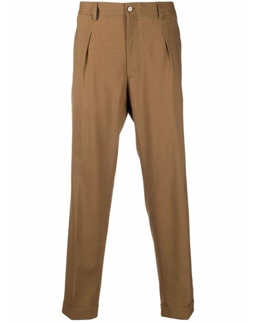 Pantaloni a gamba dritta uomo tabacco di Briglia 1949 in Brown da Uomo