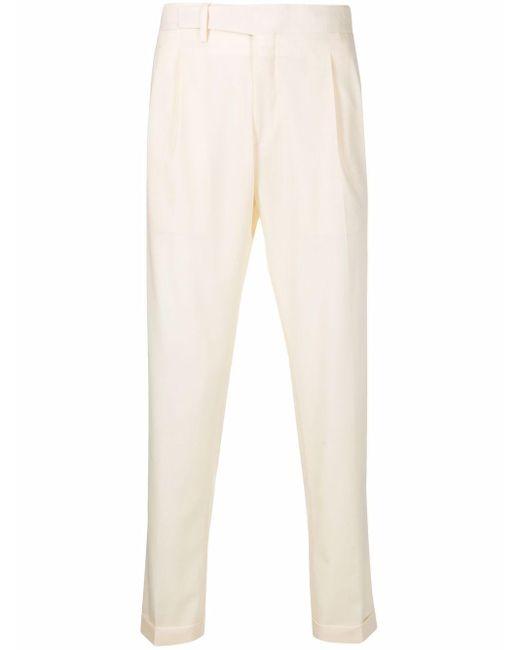Pantaloni a gamba dritta uomo panna di Briglia 1949 in Natural da Uomo