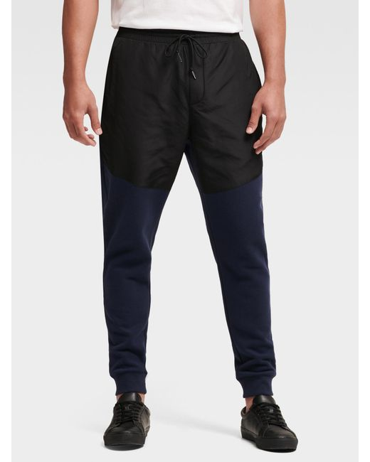 DKNY - Blue Mixed-media Colorblock JOGGER for Men - Lyst