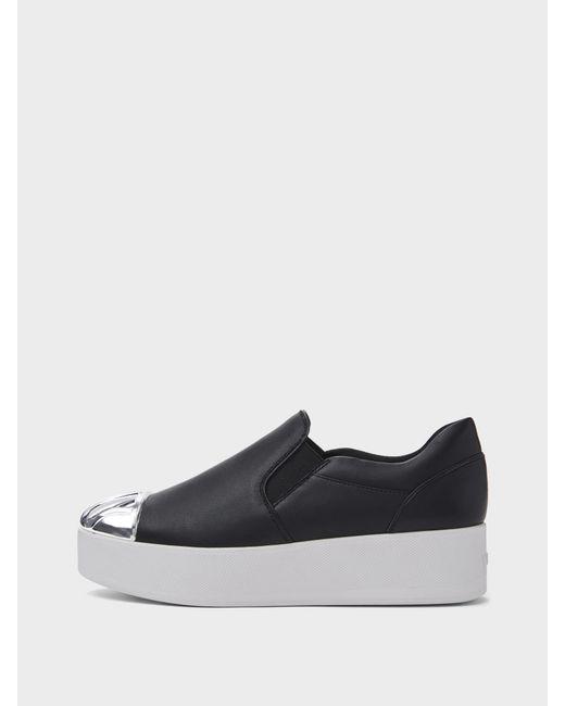DKNY - Black Rosa Slip On Platform Sneaker - Lyst