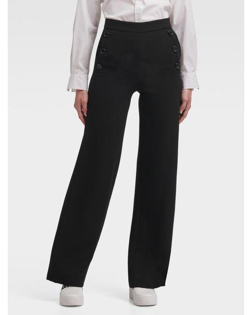 DKNY Black Wide-leg Sailor Pant