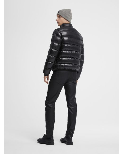 Lyst Dkny Shiny Nylon Quilted Puffer Jacket In Black For Men