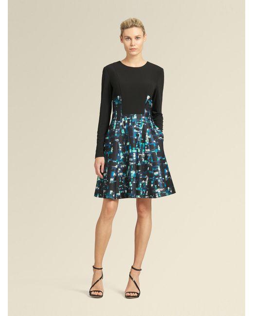 1bb70d30d37 ... DKNY - Black Printed Topaz A-line Dress - Lyst ...