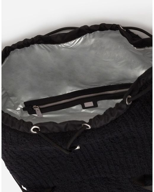 Dolce & Gabbana Knit Backpack in Black für Herren