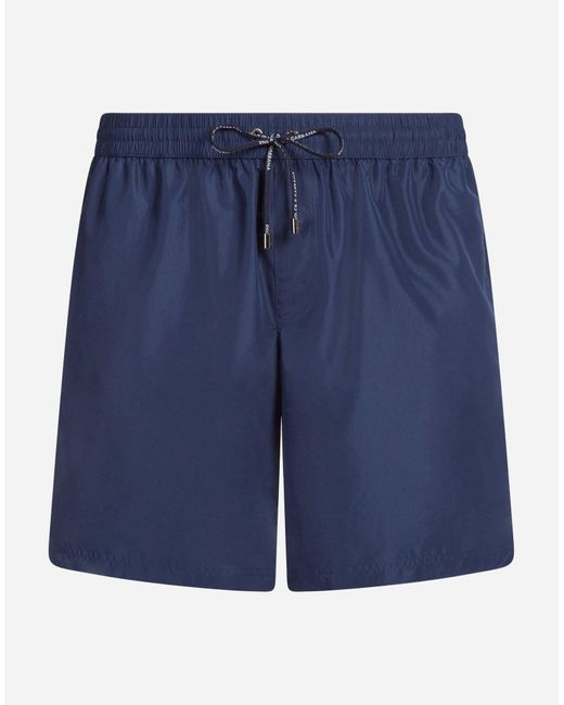 Dolce & Gabbana Blue Mid Swimming Trunks With Pouch Bag for men
