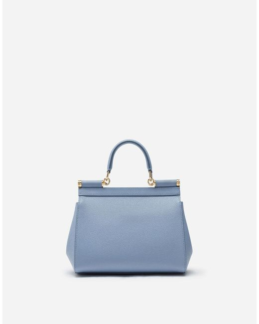 Dolce & Gabbana Blue Medium Dauphine Leather Sicily Bag
