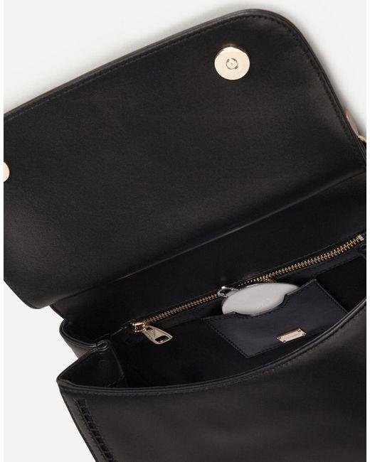 Bolso Mediano Sicily De Piel Napa Recortada Dolce & Gabbana de color Black