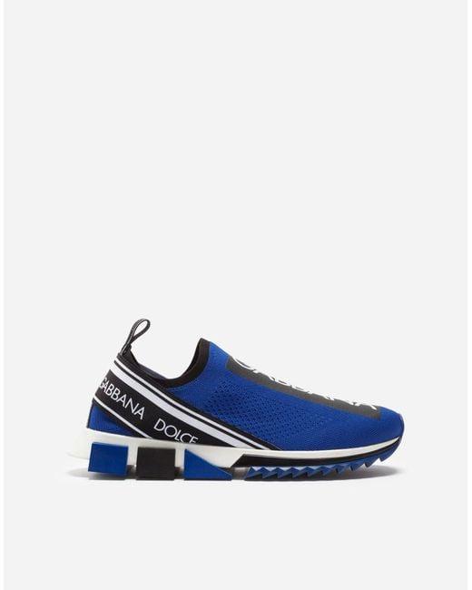 Sneakers Sorrento En Fine Maille Stretch Avec Logo Dolce & Gabbana pour homme en coloris Blue