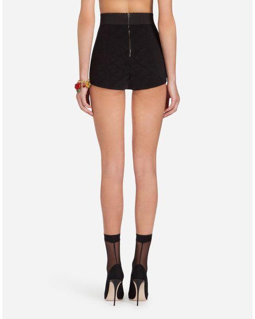 Dolce & Gabbana Black Corset-style Culotte