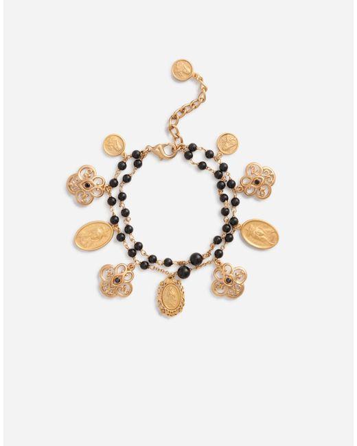Bracelet With Charms Dolce & Gabbana en coloris Metallic