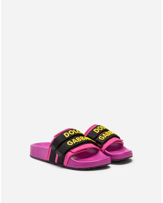 Dolce & Gabbana Slides De Goma Y Neopreno de mujer de color morado