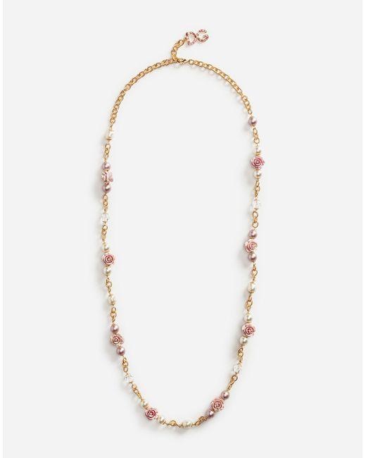 Dolce & Gabbana | Metallic Crystal Necklace | Lyst
