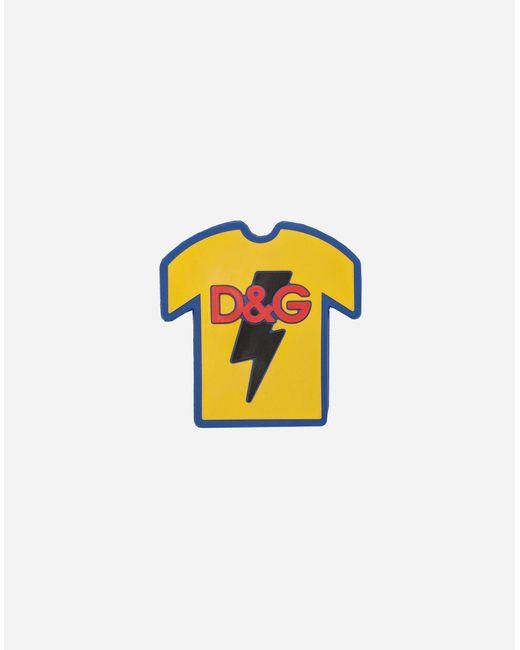 Dolce & Gabbana Yellow D&g T-shirt for men