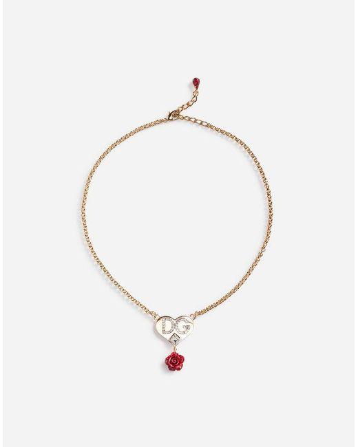 Dolce & Gabbana - Metallic Pendant Necklace - Lyst