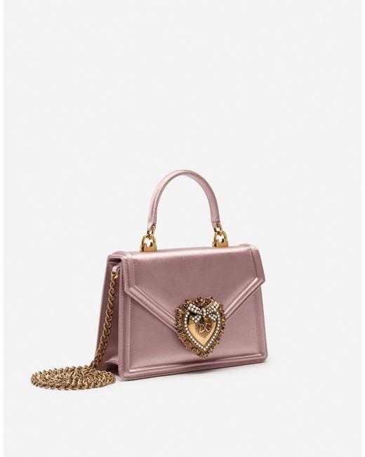 Small Satin Devotion Bag Dolce & Gabbana de color Pink