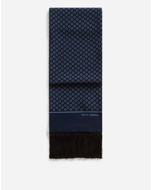 Écharpe En Soie Imprimée Dolce & Gabbana pour homme en coloris Blue