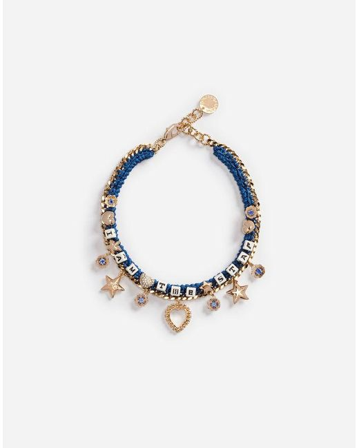 Dolce & Gabbana - Metallic Necklace With Decorative Details - Lyst