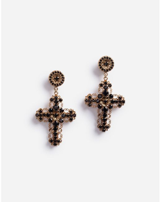 Dolce & Gabbana Metallic Ohrhänger Mit Dekorativen Elementen