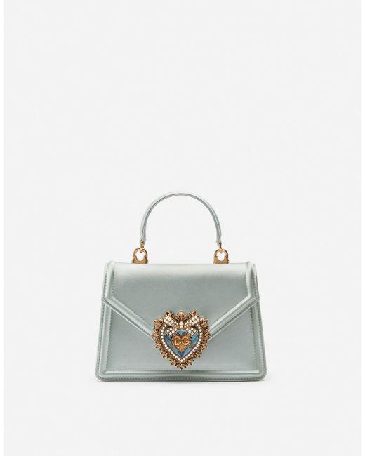 Dolce & Gabbana Green Small Satin Devotion Bag