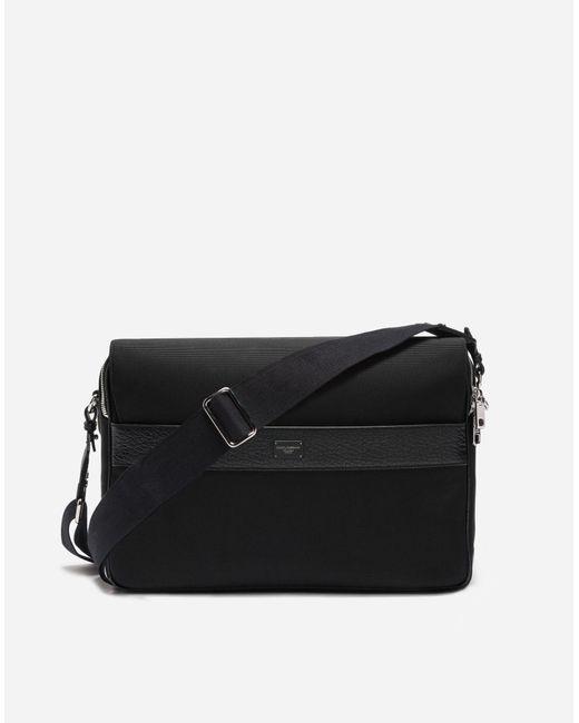 Dolce & Gabbana | Black Messenger Bag In Canvas for Men | Lyst