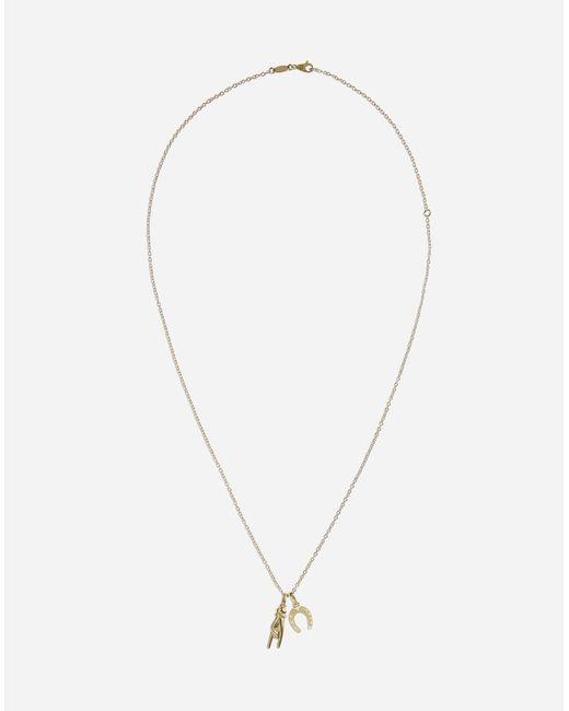 Collier Avec Amulettes Dolce & Gabbana pour homme en coloris Metallic