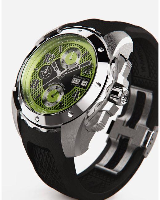 Ds5 Watch In Steel di Dolce & Gabbana in Black da Uomo
