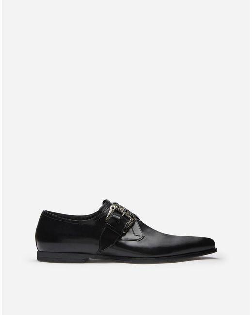 Dolce & Gabbana Black Slippers In Star Calfskin for men